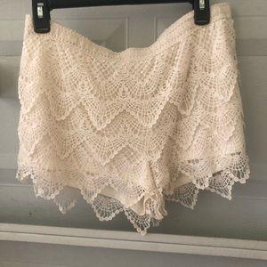 Crocheted shorts NWOT